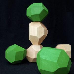 Wooden Balance Stones Set