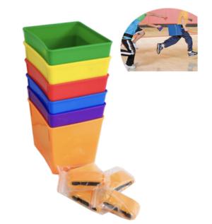 Colour Buckets with belt 6pcs
