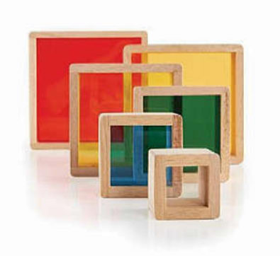 Color Stacking Wooden Blocks