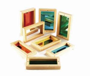 8 pieces color mirror blocks