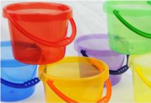 Rainbow Bucket Set