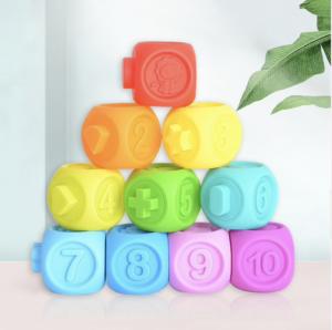 Sensory Baby Blocks 10 pack