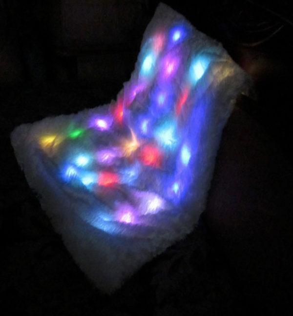 sensory toy, light blanket, soft blanket, soft white blanket