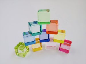 Translucent Color Cubes Set 100pcs