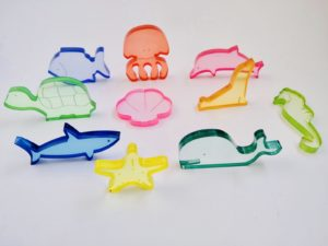 Translucent Underwater Animals set 10pcs